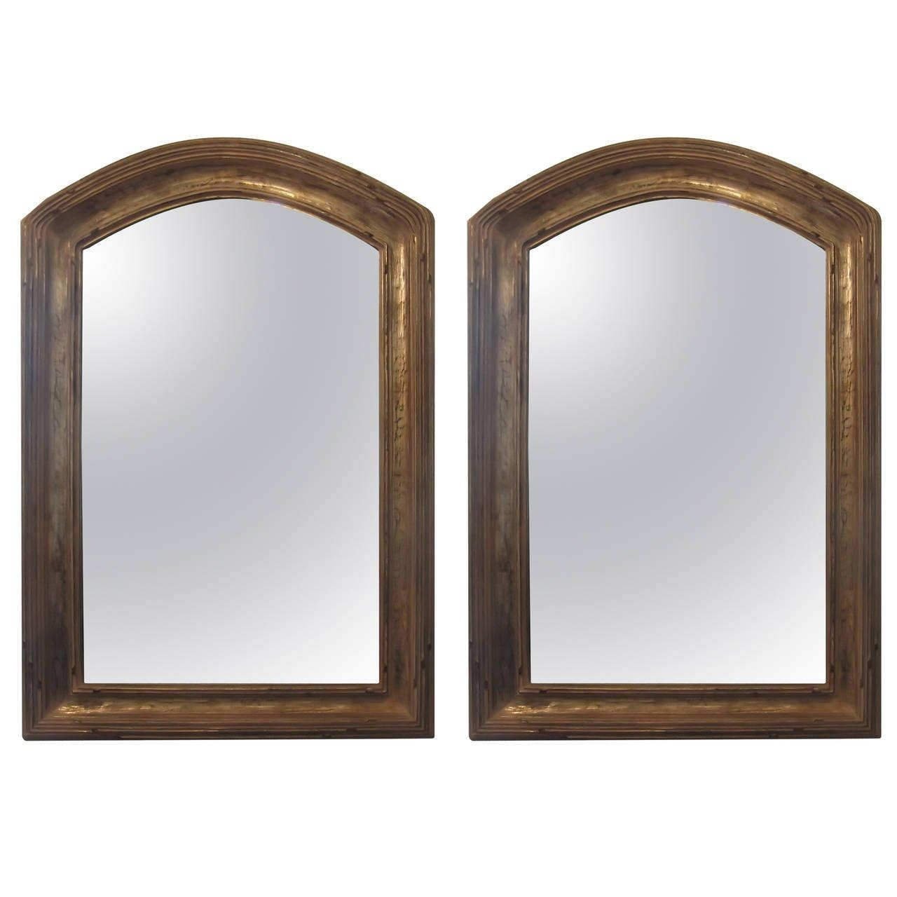 Pair Of Giltwood Arched Top Mirrors At 1Stdibs Within Curved Top Mirror (Image 17 of 20)