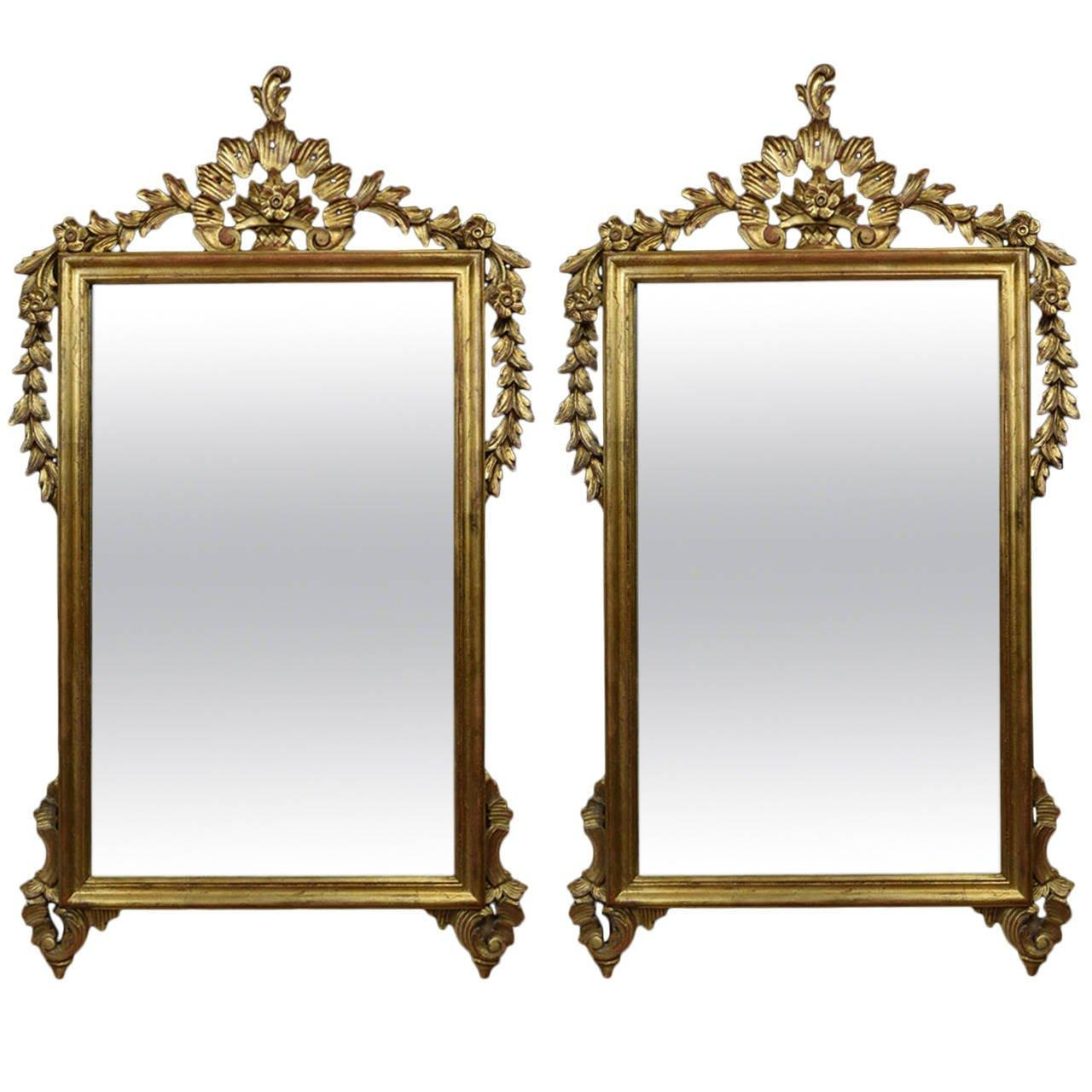 Pair Of Victorian Style Giltwood And Composition Wall Mirrors At Within Victorian Style Mirrors (View 3 of 20)
