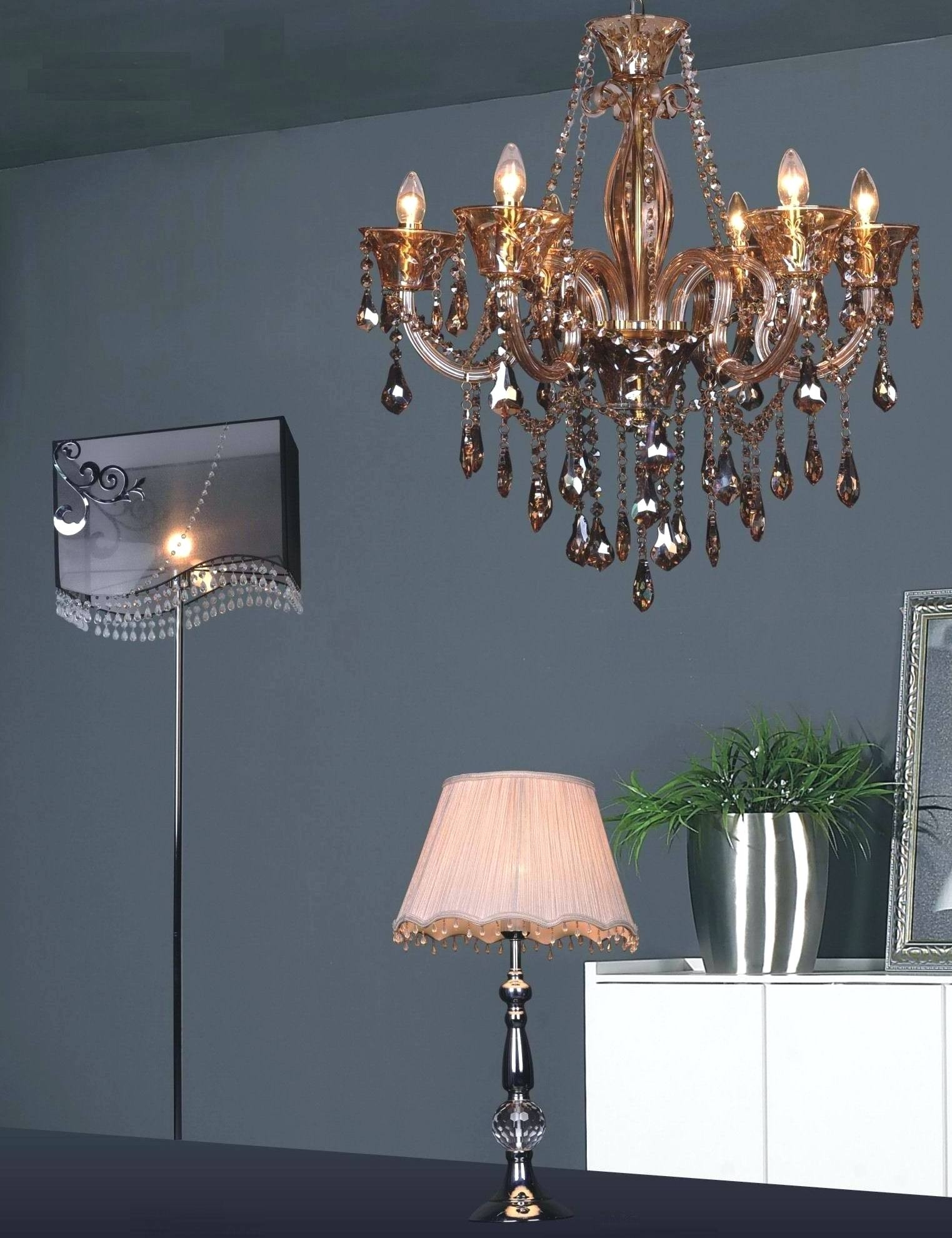 Pale Pink Chandelier Pink Sapphire Chandelier Table Lamp Small For Mini Chandelier Table Lamps (Image 18 of 25)