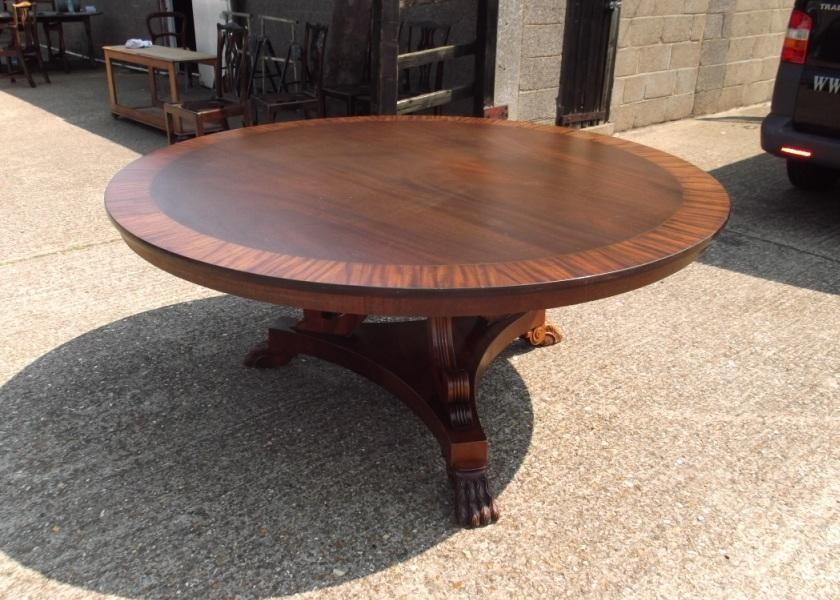 Parquetry Top Round Dining Table (Image 19 of 20)