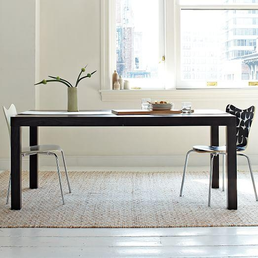 Parsons Expandable Dining Table | West Elm For Square Extending Dining Tables (View 20 of 20)