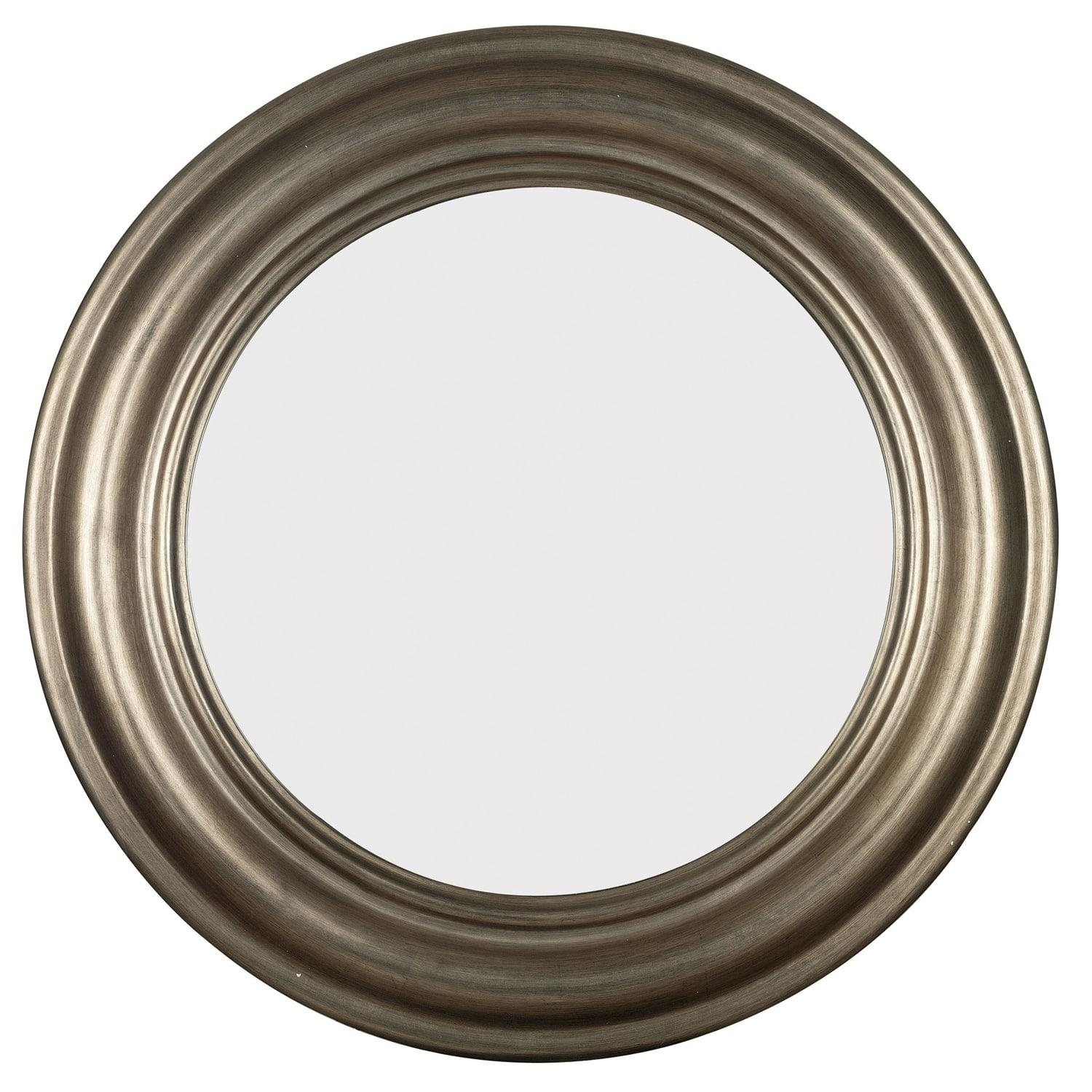 Pasco Round Antique Silver Wall Mirror – Free Shipping Today Pertaining To Antique Round Mirror (Image 15 of 20)