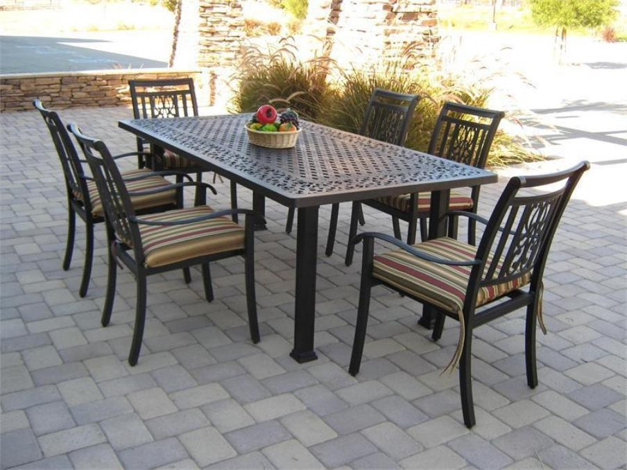 Patio: Astonishing Patio Table And Chair Sets Patio Furniture Pertaining To Outdoor Dining Table And Chairs Sets (Image 15 of 20)