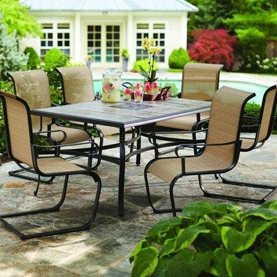 Patio Dining Furniture With Outdoor Dining Table And Chairs Sets (Image 13 of 20)