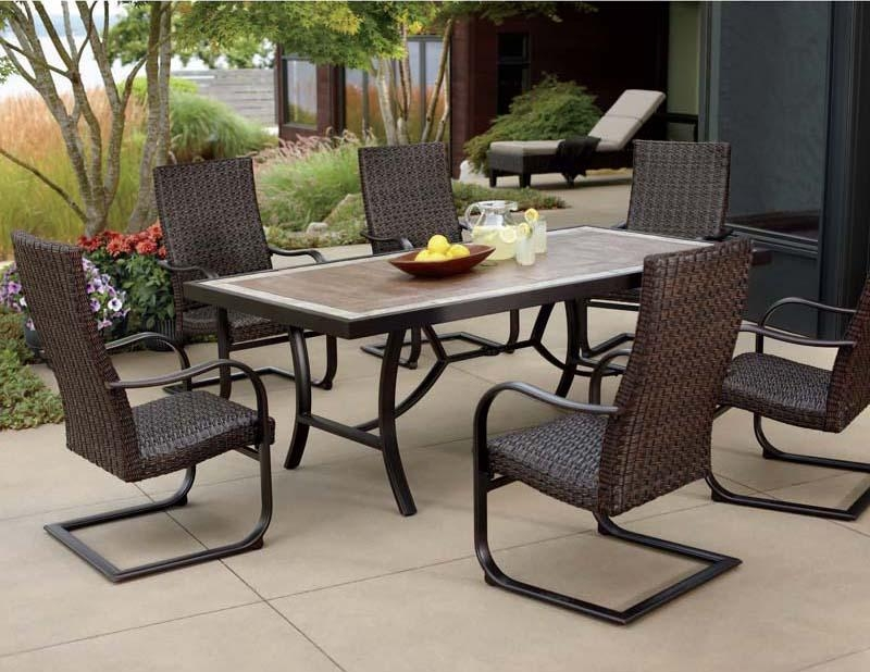 Patio Dining Sets For 6 – Home Design Ideas And Pictures Intended For Outdoor Dining Table And Chairs Sets (Image 14 of 20)