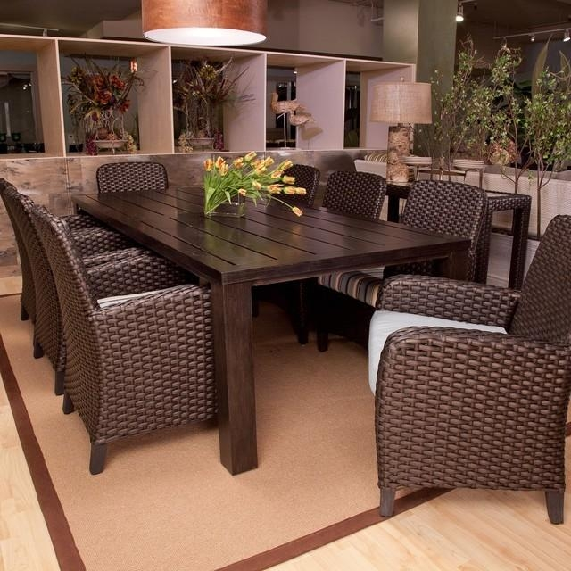 Patio: Patio Furniture Dining Set Ultimate Patio Furniture, Patio Inside 8 Seat Outdoor Dining Tables (Image 17 of 20)