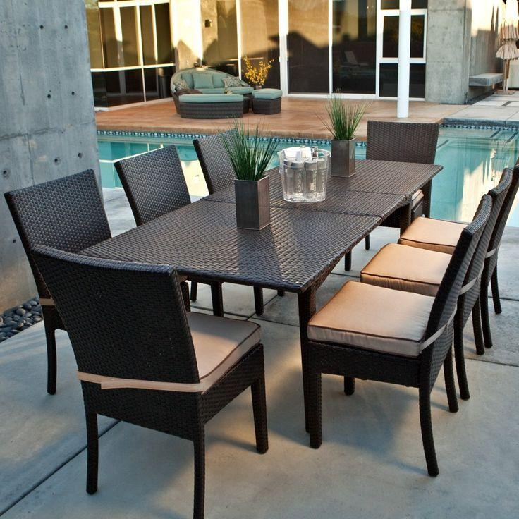 Patio: Patio Table And Chair Set Patio Dining Set Round Table With Regard To Outdoor Dining Table And Chairs Sets (Image 16 of 20)