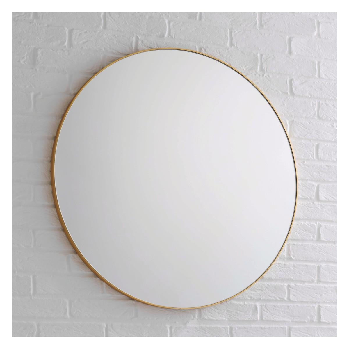 Patsy Large Round Gold Wall Mirror D82Cm | Buy Now At Habitat Uk Within Large Circular Mirror (Image 19 of 20)
