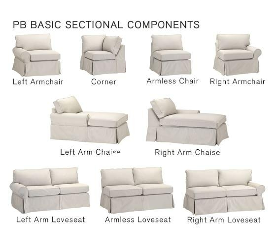 Pb Basic Sectional Component Slipcovers | Pottery Barn Intended For Armless Slipcovers (Image 8 of 20)