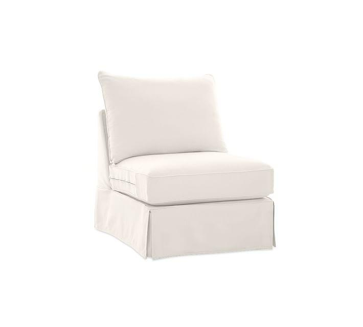 Pb Comfort Roll Arm Sectional Component Slipcovers | Pottery Barn Inside Armless Slipcovers (Image 9 of 20)