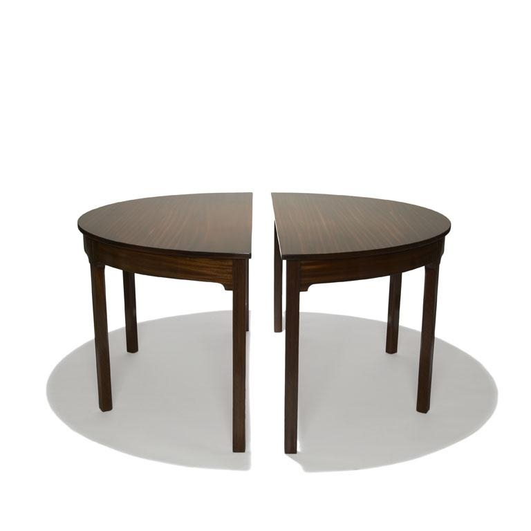 Peaceful Design Half Moon Dining Table | All Dining Room Inside Round Half Moon Dining Tables (Image 16 of 20)