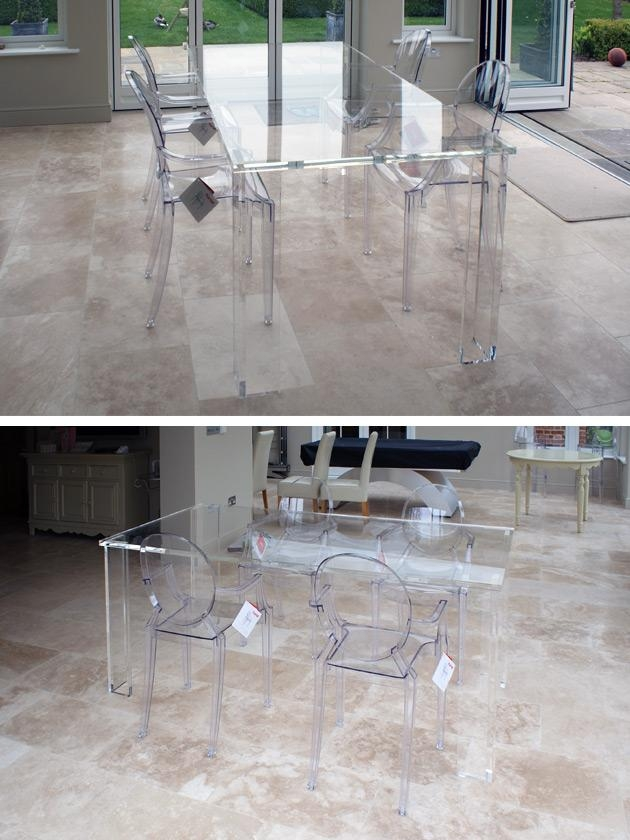 Peaceful Design Ideas Clear Dining Table   All Dining Room Regarding Clear Plastic Dining Tables (Image 15 of 20)