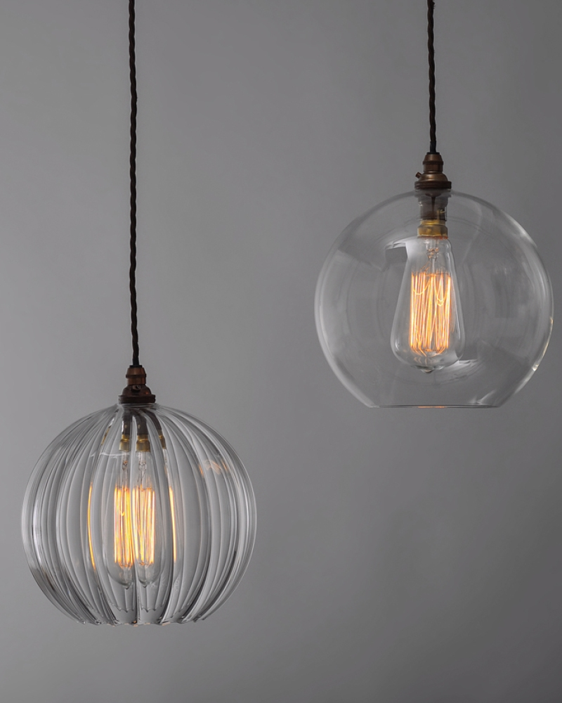 Pendant Lighting Globe Light Chandeliers Pendants Clear Glass Pertaining To Clear Glass Chandeliers (Image 20 of 25)