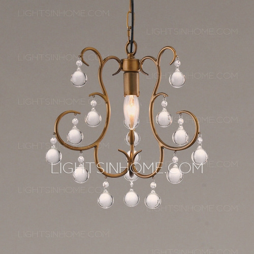 Pendant Twig Type Small Crystal Chandeliers With Regard To Small Rustic Crystal Chandeliers (Image 18 of 25)