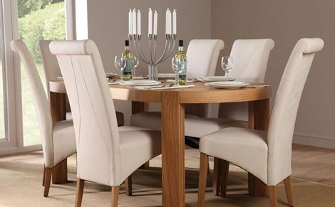 Perfect Cream Dining Table And Chairs Clifton Oval Oak Dining Intended For Cream And Wood Dining Tables (View 16 of 20)