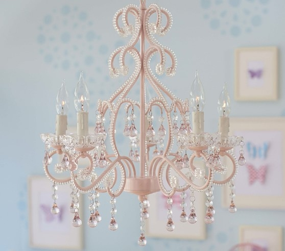 Pink Lydia Chandelier Pottery Barn Kids With Regard To Chandeliers For Kids (Image 23 of 25)