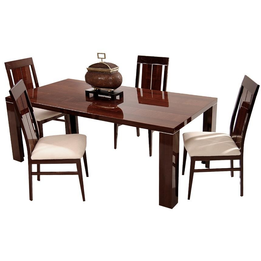 Pisa 5 Piece Formal Dining Set Made In Italy | El Dorado Furniture Intended For Pisa Dining Tables (View 10 of 20)