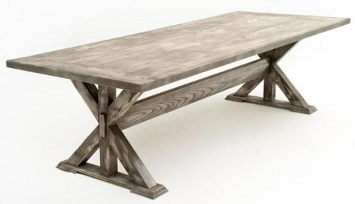 Plain Rustic Tables Fixed Dining Table With Inspiration Regarding Rustic Dining Tables (Image 16 of 20)