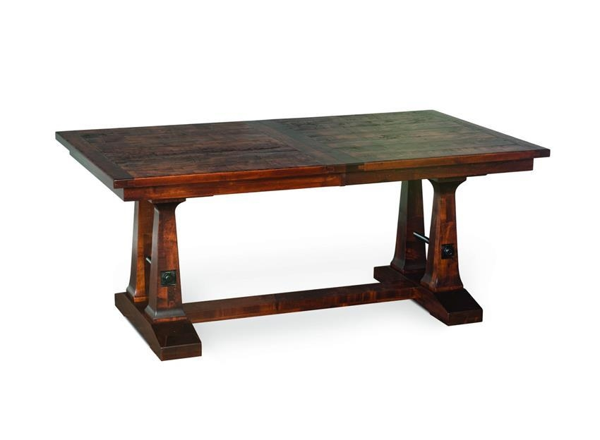 Plank Top Trestle Dining Table With Regard To Vienna Dining Tables (Image 8 of 20)