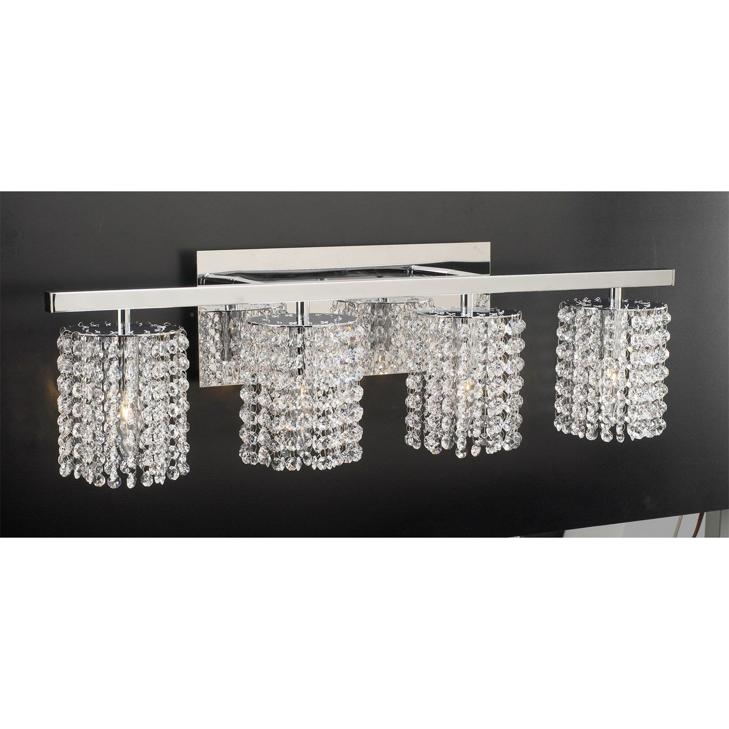 Plc Lighting 72196pc Rigga 4 Light Bathroom Vanity Light Fixture In Chandelier Bathroom Vanity Lighting (Image 24 of 25)