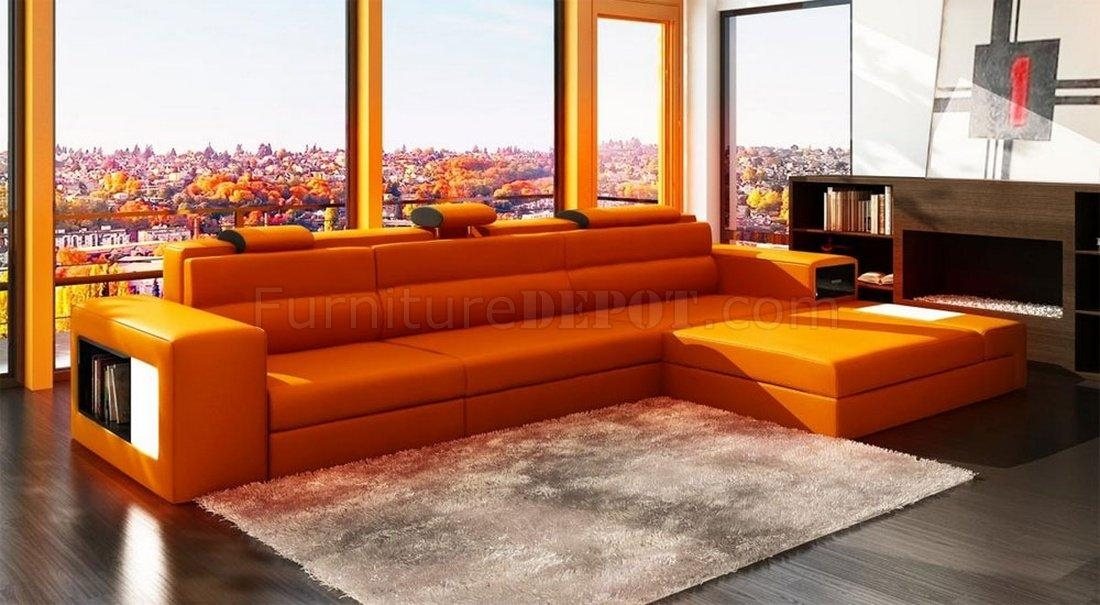 Featured Image of Orange Sectional Sofas
