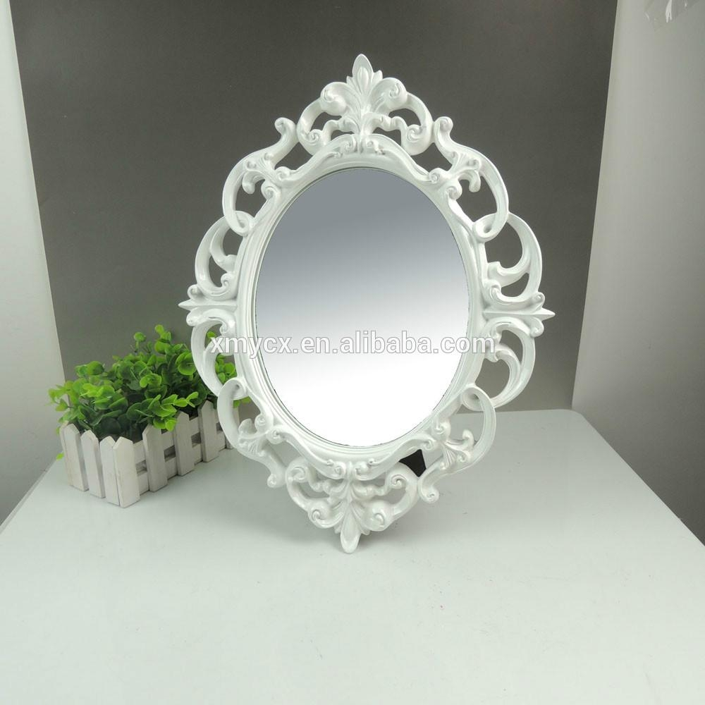 Polyresin Ornate Oval White Designer Mirror Frame – Buy Designer In Ornate White Mirrors (Photo 13 of 20)