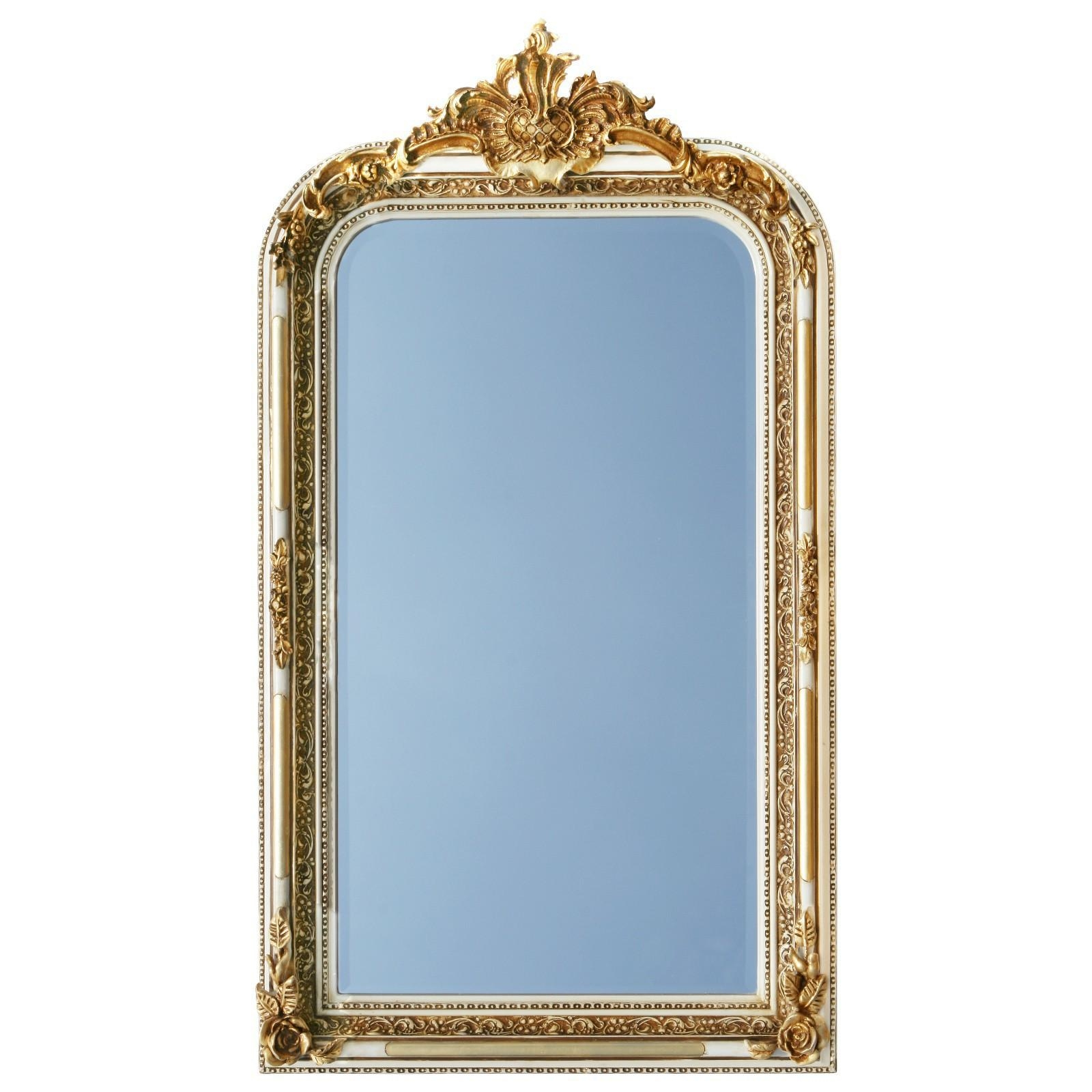 Pomp Mirror Baroque Style In Gold And White 2 Color Frame Mirror Intended For Gold Baroque Mirror (Image 19 of 20)