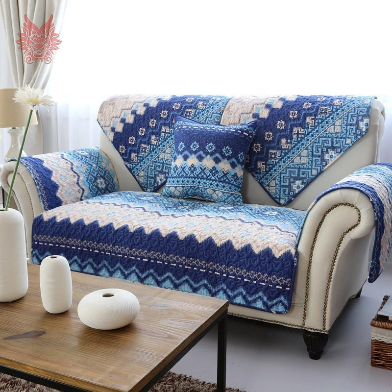 Popular Blue White Striped Sofa Buy Cheap Blue White Striped Sofa With Blue And White Striped Sofas (Image 15 of 20)
