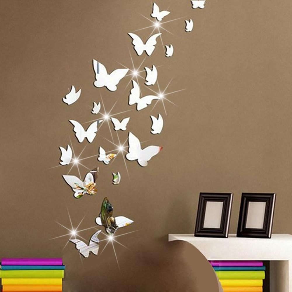 Popular Butterfly Wall Mirror Buy Cheap Butterfly Wall Mirror Lots Inside Butterfly Wall Mirrors (Image 14 of 20)