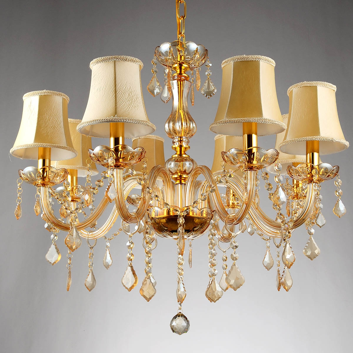 Popular Champagne Chandeliers Buy Cheap Champagne Chandeliers Lots With Regard To Crystal Gold Chandeliers (Image 21 of 25)