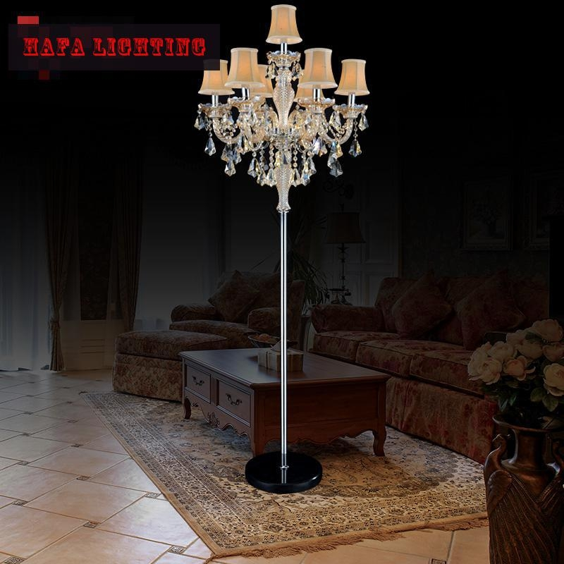 Popular Chandelier Floor Lamps Buy Cheap Chandelier Floor Lamps With Regard To Crystal Chandelier Standing Lamps (Image 17 of 25)