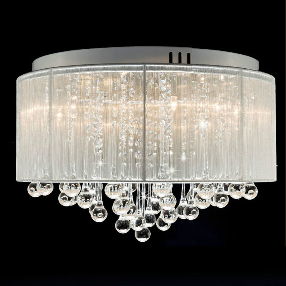 Popular Drum Shade Chandelier Buy Cheap Drum Shade Chandelier Lots With Regard To Chandelier With Shades And Crystals (Image 24 of 25)