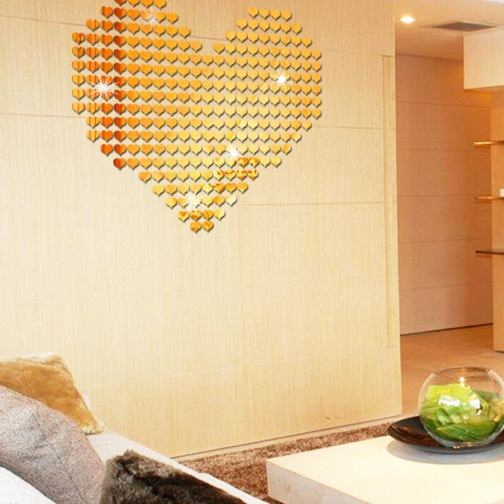 Popular Gold Wall Mirror Buy Cheap Gold Wall Mirror Lots From Within Gold Heart Mirror (View 9 of 20)