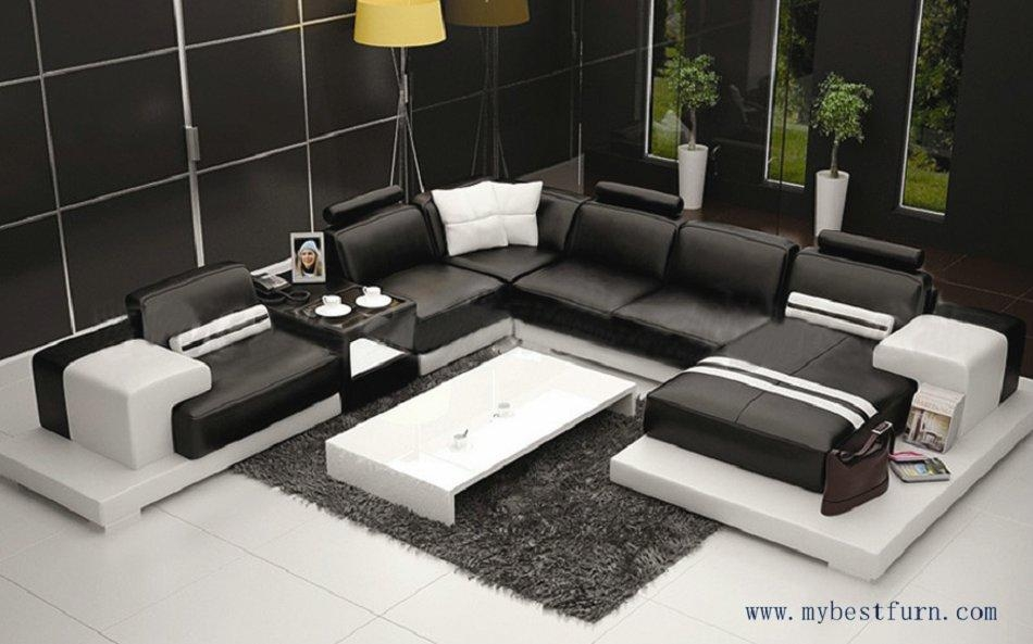 Popular Modern Couch Leather Buy Cheap Modern Couch Leather Lots For Black Modern Couches (Image 18 of 20)
