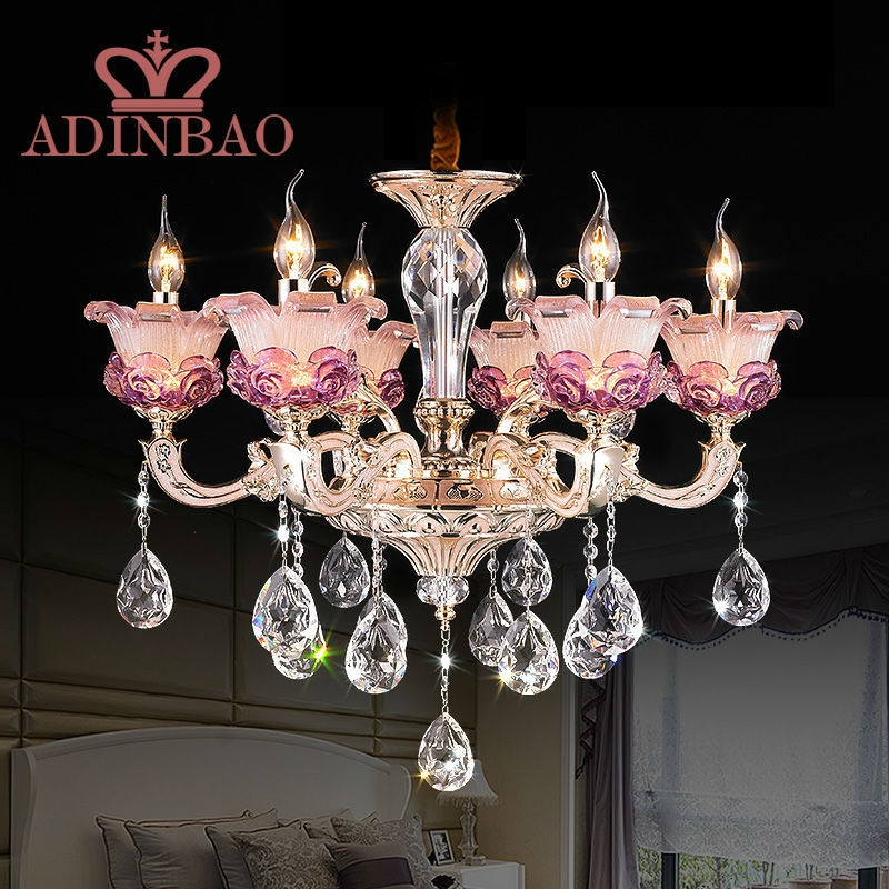 Popular Pink Crystal Chandelier Buy Cheap Pink Crystal Chandelier With Regard To Purple Crystal Chandeliers (Image 16 of 25)