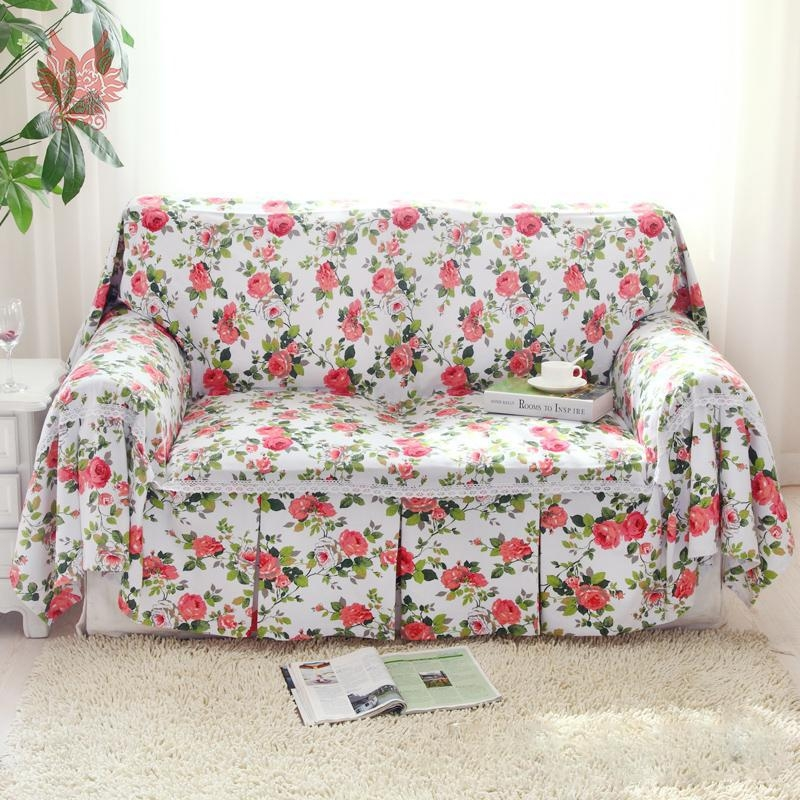Popular Red Slipcovers Buy Cheap Red Slipcovers Lots From China With Regard To Floral Sofa Slipcovers (View 2 of 20)