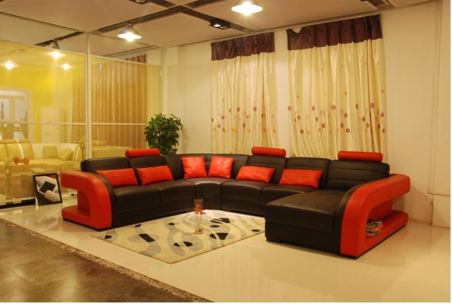 Popular Red Sofa Set Buy Cheap Red Sofa Set Lots From China Red Regarding Black And Red Sofa Sets (Image 12 of 20)