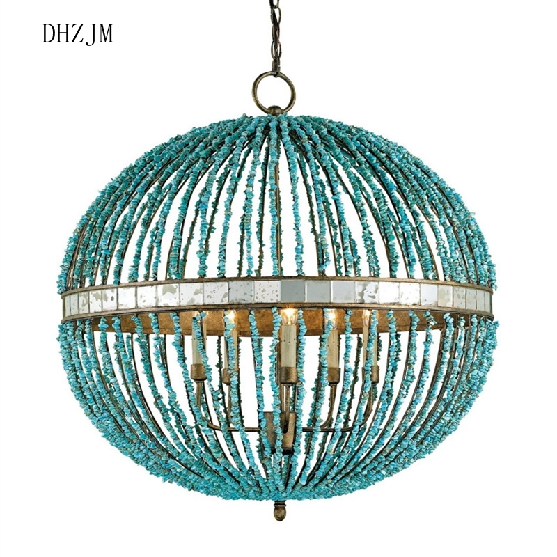 Popular Turquoise Chandeliers Buy Cheap Turquoise Chandeliers Lots For Turquoise Stone Chandelier Lighting (View 6 of 25)