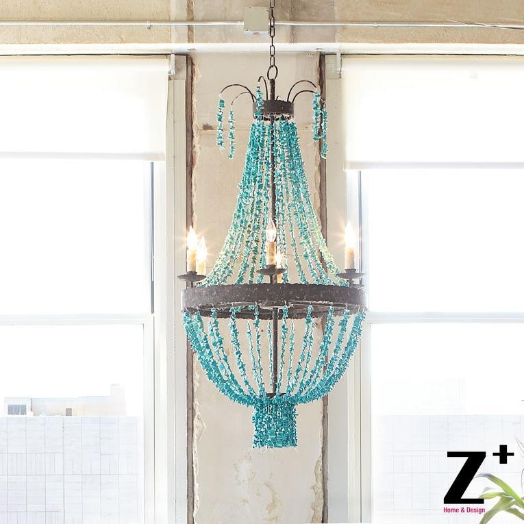 Popular Turquoise Chandeliers Buy Cheap Turquoise Chandeliers Lots Inside Turquoise Stone Chandelier Lighting (Image 18 of 25)