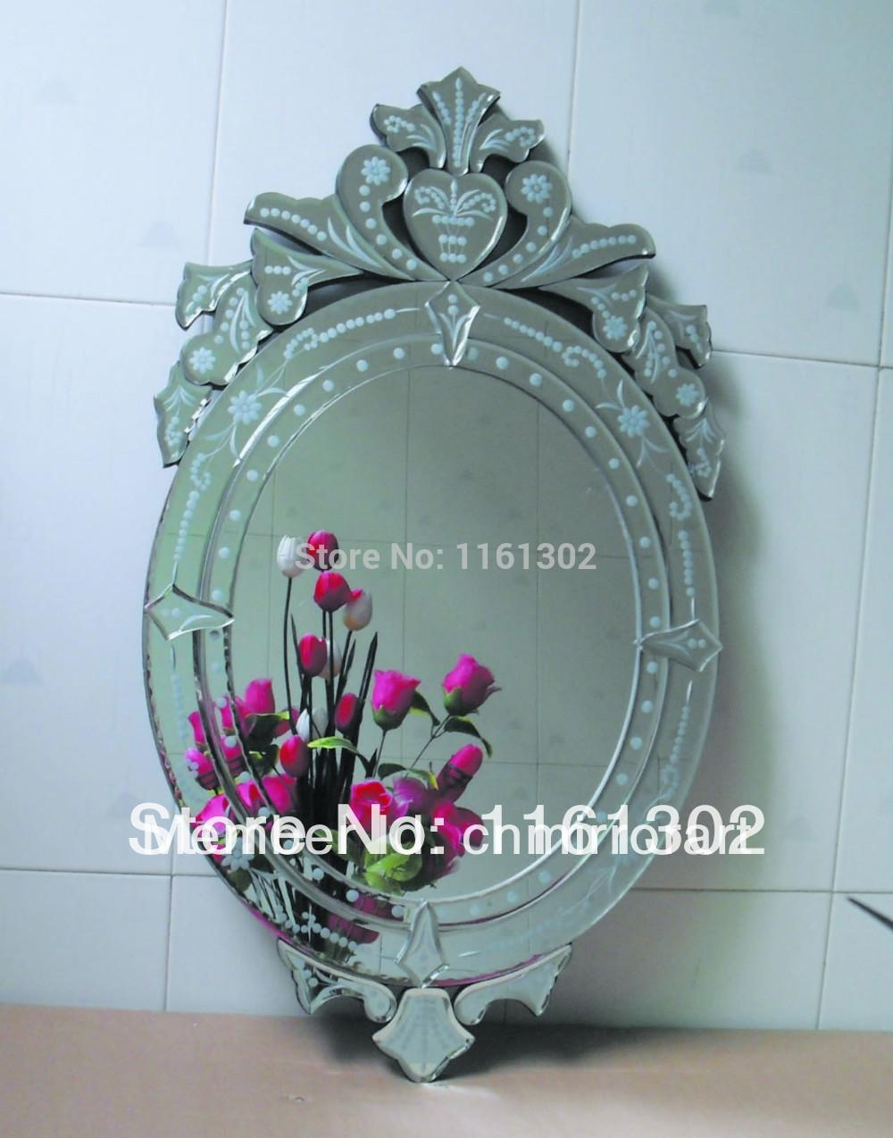 Popular Venetian Glass Mirror Buy Cheap Venetian Glass Mirror Lots Throughout Large Venetian Wall Mirror (Image 16 of 20)