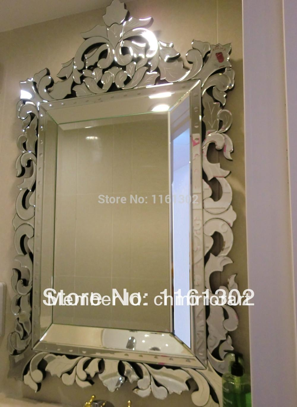 Popular Venetian Glass Mirror Buy Cheap Venetian Glass Mirror Lots With Large Venetian Wall Mirror (Image 17 of 20)