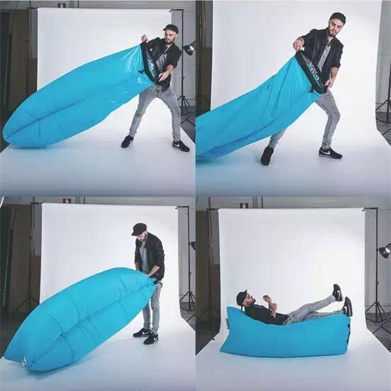Portable Air Sleeping Bag Lazy Sofa Single Inflatable Cushion Inside Sleeping Bag Sofas (Image 13 of 20)