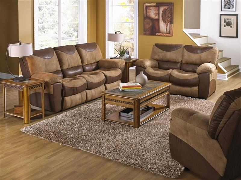 Portman 2 Piece Reclining Sofa, Reclining Loveseat Set In Two Tone Within Reclining Sofas And Loveseats Sets (Image 14 of 20)