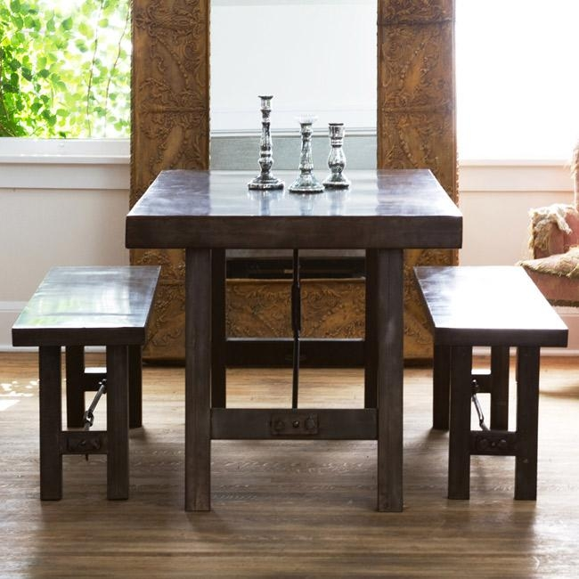 Pottery Barn Benchwright Dining Table And Benchwright Benches Look With Regard To Dining Tables And 2 Benches (Image 18 of 20)