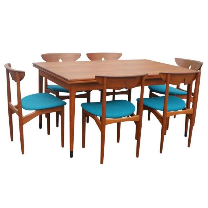 Pretty Danish Style Dining Table Wood Dowel Chairs Table With Regard To Danish Style Dining Tables (Image 15 of 20)