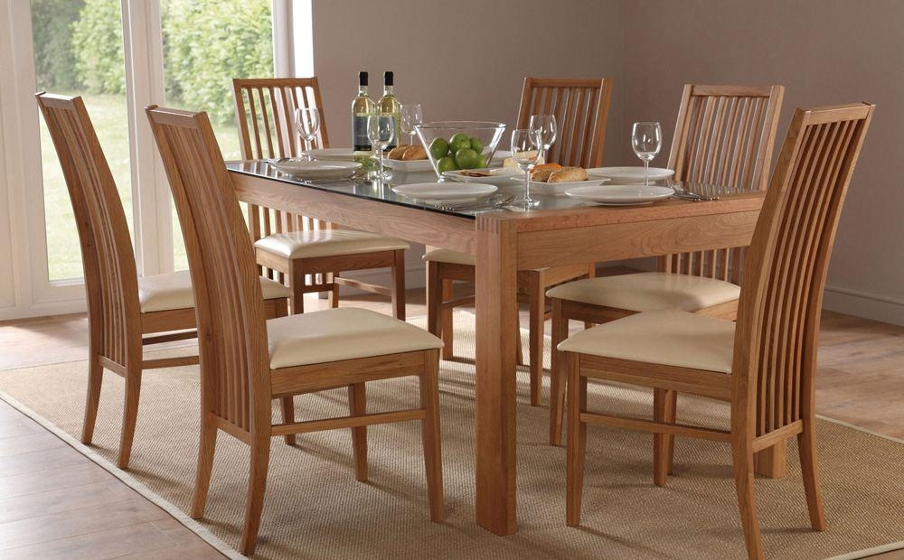 Pretty Glass Dining Table Set 6 Chairs Exclusive Olympia Glass Intended For 6 Chair Dining Table Sets (Image 19 of 20)