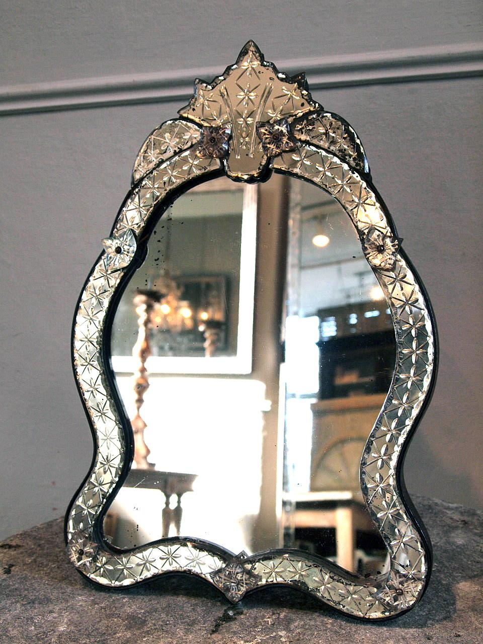 Pretty Venetian Mirror › Puckhaber Decorative Antiques Within Small Venetian Mirror (View 14 of 20)