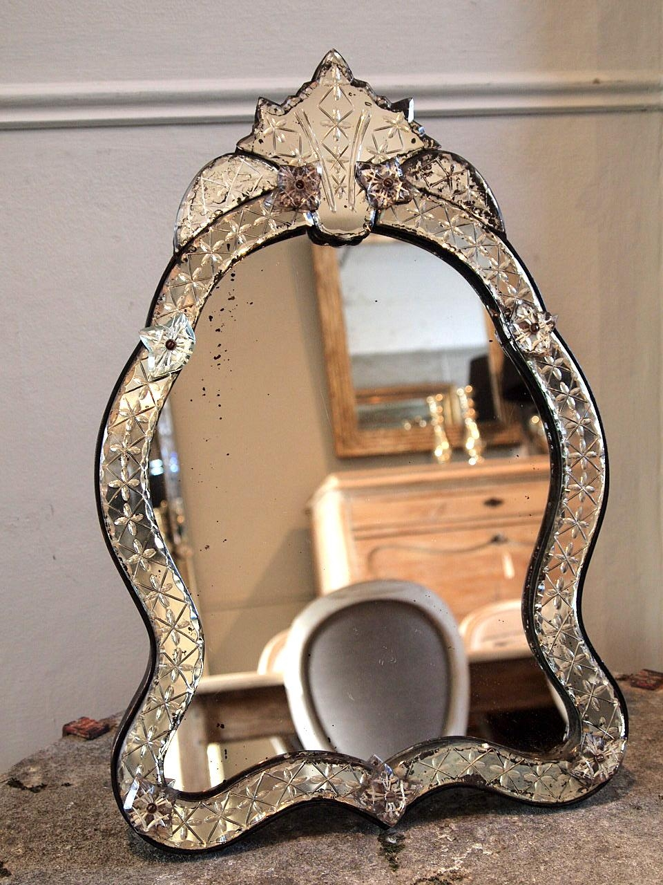 Pretty Venetian Mirror › Puckhaber Decorative Antiques Within Small Venetian Mirror (View 8 of 20)
