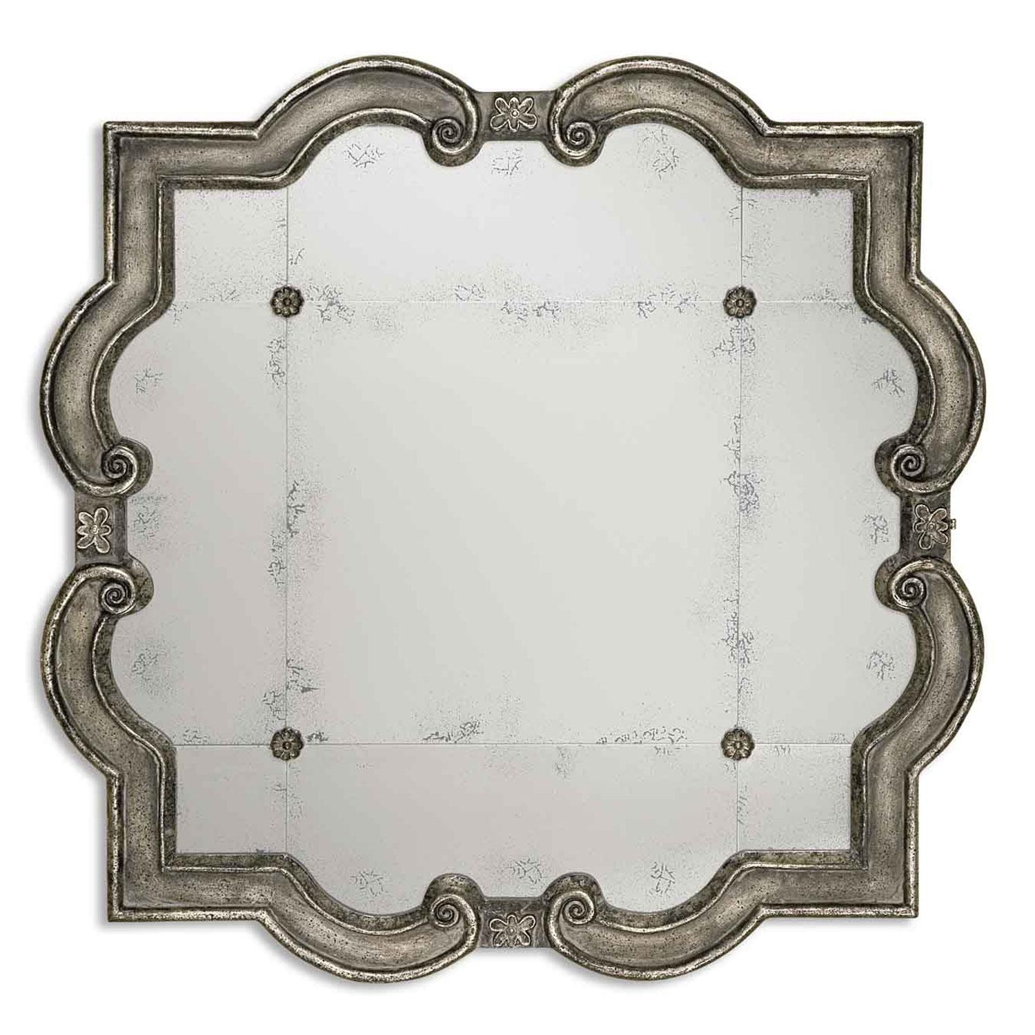 Prisca Small Mirror Uttermost Wall Mirror Mirrors Home Decor With Regard To Small Antique Mirrors (Image 14 of 20)