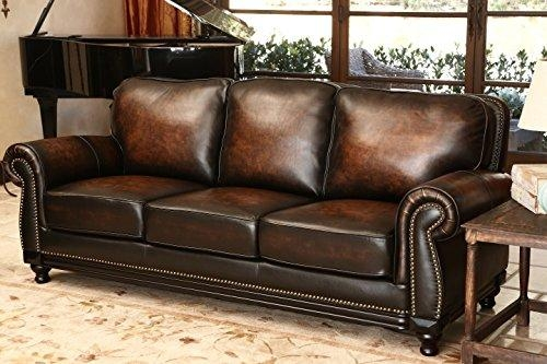 Product Reviews | Buy Abbyson Living Barclay Hand Rubbed Leather Sofa Regarding Abbyson Sofas (Image 17 of 20)